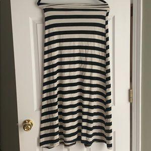 Cream and Black maxi skirt